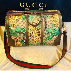 Gucci Bengal GG Supreme Duffel Travel Bag
